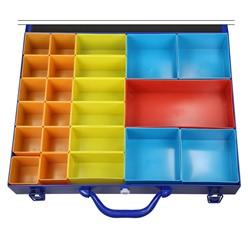 Sortimentskoffer inkl. 23 Kunststoffboxen