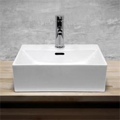Lavabo 415 x 360 x 130 mm en céramique blanche