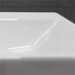 Waschbecken Eckigform 415x360x130 mm, Weiß, aus Keramik