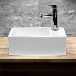 Lavabo 350 x 205 x 125 mm en céramique blanche