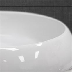 Waschbecken Rundform 350x350x120 mm, Weiß, aus Keramik