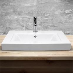 Waschbecken 605x465x160 mm Keramik Weiß