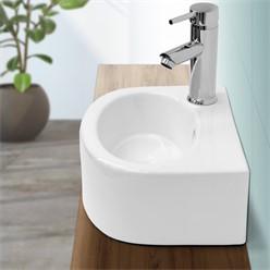 Waschbecken Kermaik Weiß 335 x 255 x 130 mm