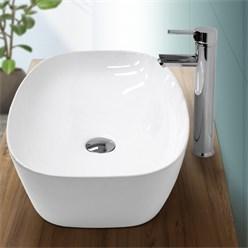 Ablaufgarnitur für Waschbecken, mit Überlauf, aus Messing