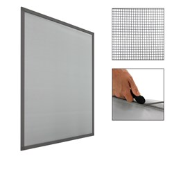 100x120cm Moustiquaire pour fenêtre cadre gris protection contre les insectes