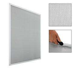 2 x Fliegengitter Alu Rahmen Weiß 130 x 150 cm