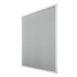 Fliegengitter weiß, 80x100 cm, mit Rahmen aus Aluminium