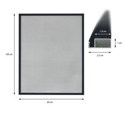 2 x Fliegengitter Alu Rahmen Anthrazit 80 x 100 cm