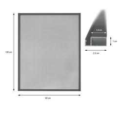 Fliegengitter mit Rahmen aus Aluminium 80x100cm Grau