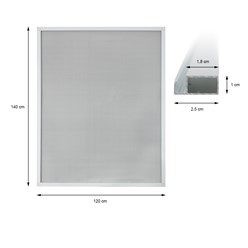 Fliegengitter Alu Rahmen Weiß 120 x 140 cm