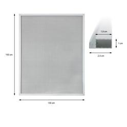 Fliegengitter mit Alu-Rahmen Weiß 130 x 150 cm