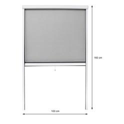 Insektenschutzrollo Alu 100x160cm weiß