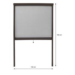 Insektenschutzrollo für Fenster 100x160cm Braun