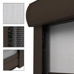 Insektenschutzrollo für Fenster 160x160cm Braun