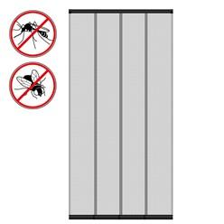 Fliegengitter Vorhang Tür 100x220cm Schwarz