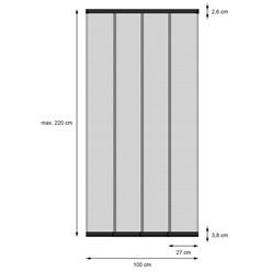 Fliegengitter Vorhang Tür 100 x 220 cm Schwarz
