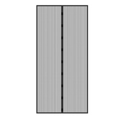 Fliegengitter schwarz, 100x210 cm, Klebmontage ohne Boren, aus Polyester