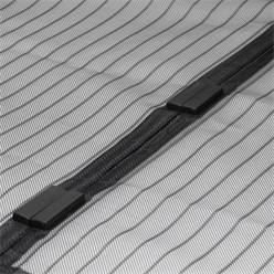 Fliegengitter Magnet Tür 100x210cm Schwarz