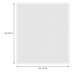 Fliegengitter magnetisch Weiß 130 x 150 cm