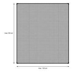 Fliegengitter magnetisch Schwarz 130 x 150 cm
