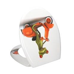 WC-Sitz mit Absenkautomatik Frosch auf Roller