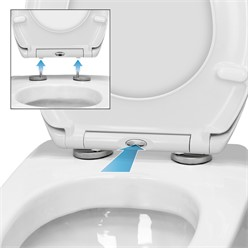 Toilettendeckel Golden Gate Softclose mit Easy Fix