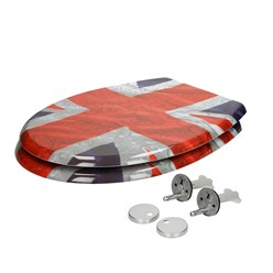 Toilettendeckel Flagge GB Softclose EasyFix