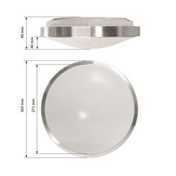 LED-Deckenlampe, Warmweiß, 12W Rund