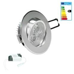 LED Einbauspot Warmweiß 3 Watt Ausf. COB Aluminium schwenkbar dimmbar