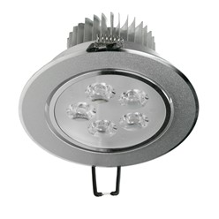 ECD Germany 1 x 5W 220V 12 x 12 cm LED Projecteurs encastré environ 334 Lumens blanc chaud 3000K Carré