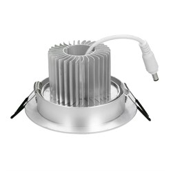 LED Einbauspot Warmweiß 5 Watt Ausf. COB Aluminium schwenkbar