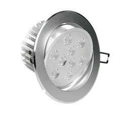 LED-Einbaustrahler 9W, Kaltweiß, Rund