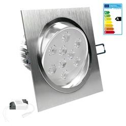 LED Einbauspot Warmweiß 9 Watt Ausf. COB Aluminium schwenkbar dimmbar