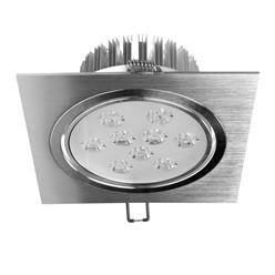 LED Einbauspot 9 Watt Ausf. COB Aluminium schwenkbar warmweiß
