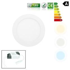 LED-Panel Einbaustrahler 12W, Warmweiß, Rund
