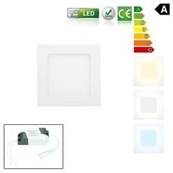 LED-Panel Einbaustrahler 9W, Warmweiß, Eckig