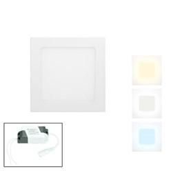 LED-Panel Einbaustrahler 12W, Warmweiß, Eckig