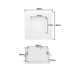 10 x LED Panel Eckig 18W Warmweiß AC 220-240V