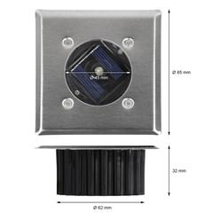 LED-Solar Gartenlampe Eckig 2V 30MA