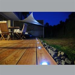 LED-Solar Bodeneinbaustrahler, Rund(Eckig), wasserdicht