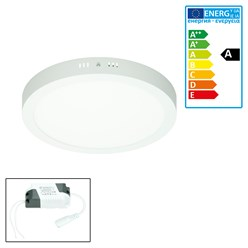ECD Germany LED Plafonnier 18W AC 220-240 4000 lumens 220 mm angle de 160 ° IP53 blanc neutre