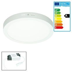 ECD Germany Plafonnier LED 24W AC 220-240 V 1812 lumens Ø 300 mm angle de 160 ° IP53 blanc froid