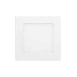 ECD Germany Plafonnier LED 12W AC 220-240 672 Lumens 170 x 39 mm angle de 160 ° IP53 blanc neutre angulaire