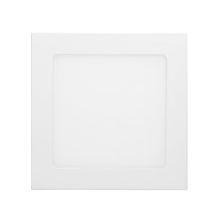 ECD Germany Plafonnier LED 18W AC 220-240 1162 lumens 220 x 220 mm angle de 160 ° de IP53 blanc chaud angulaire