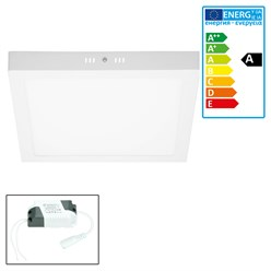 ECD Germany LED Plafonnier 24W AC 220-240V 1814 lumens 300 x 300 mm Angle de 160 ° IP53 Blanc Neutre Carré