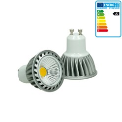ECD Germany LED COB GU10 Ampoule Lampe Spot Dimmable 4W Blanc Chaud