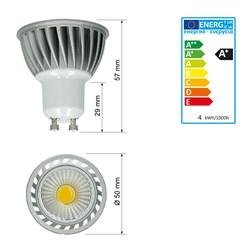 LED Reflektor-Spot GU10 4 Watt Ausf. COB warmweiß