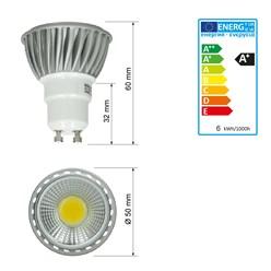 LED Reflektor-Spot GU10 6 Watt Ausf. COB kaltweiß dimmbar