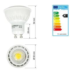 LED Reflektor-Spot GU10 3 Watt Ausf. COB kaltweiß