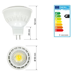 LED Reflektor-Spot MR16 3 Watt Ausf. COB warmweiß